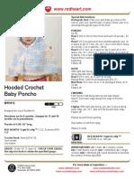 Hooded Crochet Baby Poncho