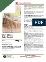 Wavy Stripes Baby Blanket