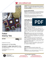 Felted Granny Tote