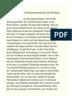 Notiz Uber Geisteswissenschaft Und BIldung - Theodor W. Adorno