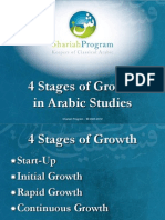 4 Stages of Growth in Arabic Studies