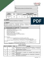 Cronograma ALM027 Bromatologia I 2012 Alunos