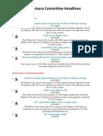 2007- 301 Advisory Committee Headlines