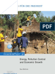 Energy, Pollution Control and Economic Growth