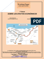 Y Vasca. SOBRE LOS EFECTOS ECONOMICOS (Es) Basque High-Speed. ON THE ECONOMIC EFFECTS (Es) Euskal Y. ERAGIN EKONOMIKOEZ (Es)
