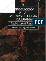 Assoun Paul Laurent - Introduccion a La Metapsicologia Freudiana