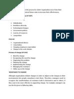 Organisational Development & Change