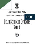 Delhi schedule of rates