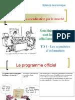 sous-thème 3- TD1- les asymétries de l'information