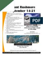 Mount Rushmore Travel Flyer