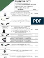 List Harga CCTV Januari 2013
