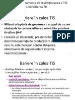 Tranzactii comerciale internationale - Liberalizarea/ bariere servicii