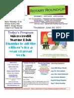 Bulletin 6.30.2011