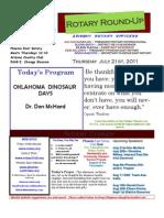 Bulletin 7.21.2011