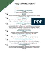 2008 - 301 Advisory Committee Headlines