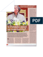 Fabiola, naïef maar onschuldig? Thierry Debels over Fons Pereos in Primo Magazine