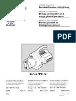 Flotec Water Pumps Owner's manual - Model FP324-Sprinkler Pump