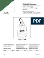 Flotec Water Pumps Owner's manual - Model mFP579