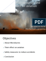 Analysis of Microbursts and their effect on Aviation.