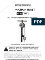 Chain hoist instructions