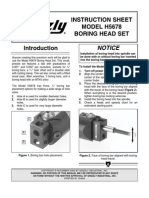 Boring Head Manual