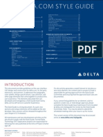 Delta Airlines Style Guide 2009