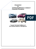 415 Car Market and Buying Behavior- A Study of Consumer Perception