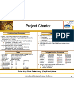 Lean Six Sigma Project Charter Template
