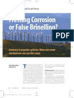 Fretting Corrosion or False Brinelling