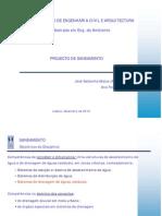 Projecto de Saneamento_AT_Aulas 1 a 5