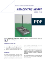 Metacentric Height Laboratory