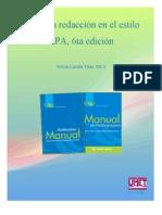 Guía a la redacción en el estilo APA 6ta edición