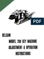 belsaws key machine