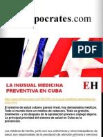 La inusual medicina preventiva en Cuba