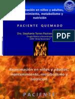 REANIMACIÓN EN NIÑOS Y ADULTOS, NUTRICION QUEMADOS STEPHY.ppt