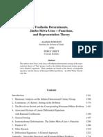 Fredholm determinants Jimbo-Miwa-Ueno tau-functions and representation theory