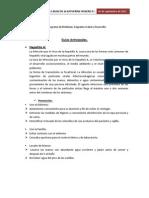 Guías Anticipadas Salud y desarrollo Tercero B