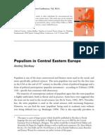 Andrej Skolkay-Populism in Central Eastern Europe
