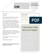 The Forum, January Edition