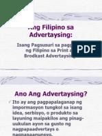 Filipino Sa Advertaysing
