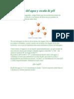 Ionización del agua y escala de pH
