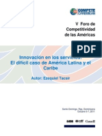 Innovation in Services - Caso America Latina