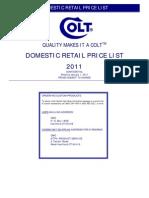 Colt 2011 Retail Price List