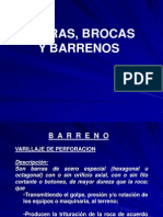 Barras Brocas y Barrenos