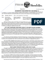 Citizens Committee to Save Elysian Park - Newsletter Number 109 - January 27, 1994