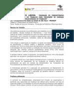 GINASTICA LABORAL - PROGRAMA DE CINESIOTERAPIA DESCOMPENSATÓRIA DO TRABALHO PARA PREVENÇÃO DE DOENÇAS OSTEOMUSCULARES RELACI