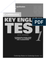 KET - Key English Test 1 (With Answers) - Cambridge University Press
