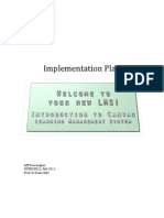 Introduction To Canvas LMS-Implementation Plan