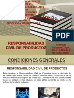 Responsabilidad Civil de Productos