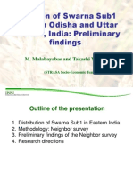 Diffusion of Swarna Sub1 seeds in Odisha and Uttar Pradesh, India Preliminary findings